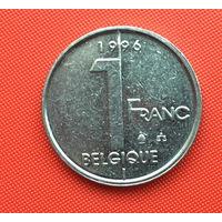 Бельгия, 1 франк 1996 г. Французский тип. Распродажа!
