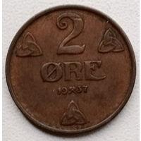 Норвегия 2 эре 1937