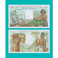 [КОПИЯ] Таити 1000 франков 1940-57 г.г.