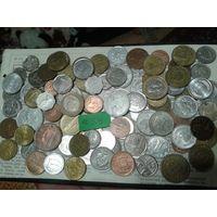 С рубля! 100 монет, весь Мир, но без СССР, УК и РФ (лот#3Y). Сегодня и завтра- новые аукционы!