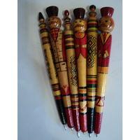 Ручки деревянные 6шт,все разные.цена за 1 шт.