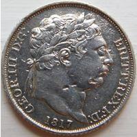 25. Британия 6 пенсов 1817 год, серебро.