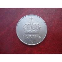 1 крона 1977 год Норвегия