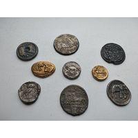 Копии Античных монет 9шт 8-1-11*12