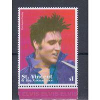 [456] Сент-Винсент и Гренадины 2002. Музыка.Искусство.Элвис Пресли. Одиночный выпуск.