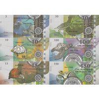 Острова Гилберта Набор 6 банкнот 2016 год UNC