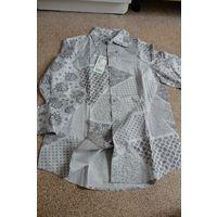 Рубашка мужская, р. М (на р. 48), 100% хлопка, Германия. Новая с этикеткой!