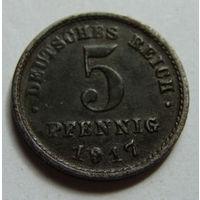 Германия 5 пфеннигов 1917 г