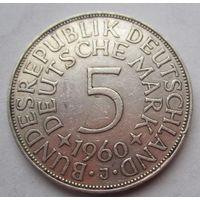 ФРГ. 5 марок 1960 J, Серебро