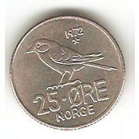 КОРОЛЕВСТВО НОРВЕГИЯ. 25 ЁРЕ 1972. ФАУНА. СИНИЦА