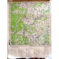 КРАСНАЯ  ГОРА, карта 40х53 см.