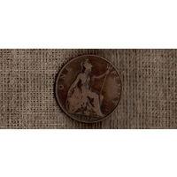 Великобритания 1 пенни 1907 /(ОI)
