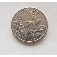 25 центов США 2008 г. штат Оклахома  D