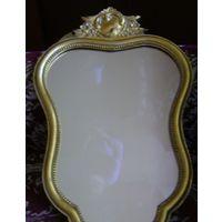 Зеркало старинное с короной.Сер.20 в. Бельгия.