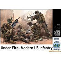 Современные американские пехотинцы. Под огнем, сборная модель 1/35 Master Box MB35193
