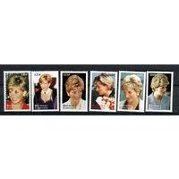 Габон - 1998 - Диана - [Mi. 1406-1411] - полная серия - 6 марок. MNH.