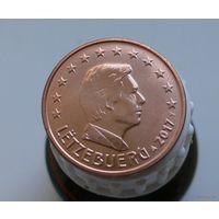5 евроцентов 2017 Люксембург UNC из ролла