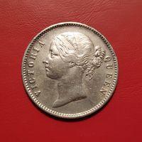 Британская Индия 1 рупия 1840 серебро