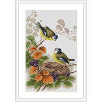 Набор для вышивки крестом. Птички у гнезда. Luca-S / В215