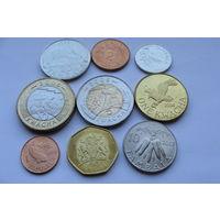 Малави. Набор 9 монет 1 тамбала - 10 квача (2 б/м) Год 1995-1996