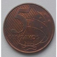 Бразилия 5 сентаво 2004, КM#648