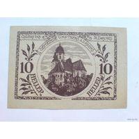 Австрия 10 геллер 1921г.  нотхельд.  распродажа