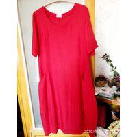 Платье льняное 50-54 воздушное