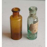 2 аптечных бутылочки начало ХХ века