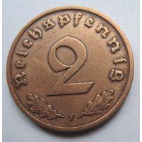Германия. 2 рейхспфеннига 1939 F. 353