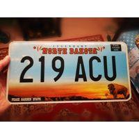 Автомобильный номер США штат Северная Дакота
