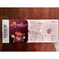 Дания-Португалия 13.06.2012 Евро-2012
