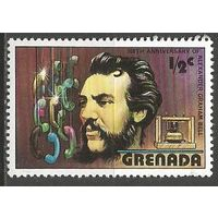 Гренада. 100 лет телефону. А.Белл изобретатель телефона. 1976г. Mi#814.