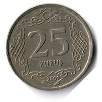 Турция. 25 курушей. 2009 г.