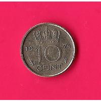 48-25 Нидерланды, 10 центов 1974 г.