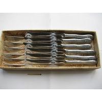 Набор столовый СССР 12 предметный (6 ножей и 6 вилок) нержавейка