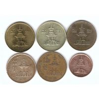 Южная Корея 10 вон набор 6 монет