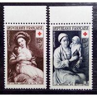 Общество Красного Креста, Франция, 1953 год, 2 марки