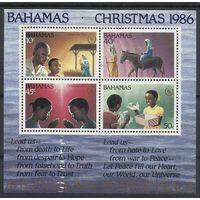 Багамы, 1986, bl#50, Рождество, ** (РН)