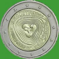 2 евро 2019 Литва Литовские народные песни UNC из ролла