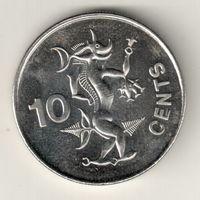 Соломоновы острова 10 цент 2005