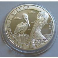 """Барбадос 2020 серебро (1 oz) """"Пеликан"""" (первая монета серии)"""