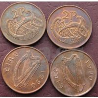 2 пенса 1990 Ирландия КМ# 21a