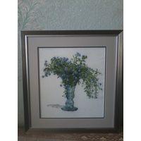 Картины цветы (вышивка крестом, 2 штуки)