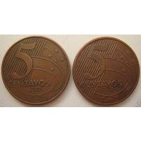 Бразилия 5 сентаво 2006, 2010 гг. Цена за 1 шт. (g)