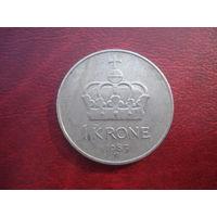 1 крона 1983 год Норвегия