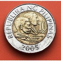 123-12 Филиппины, 10 писо (песо) 2005 г.