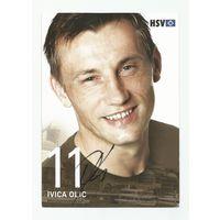 Ivica Olic(Гамбург, Германия). Живой автограф на большой карточке.