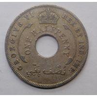 Британская Западная Африка 1/2 пенни 1942 г.
