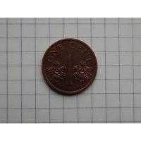 Лот #72: 1 цент 1995 Сингапур
