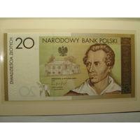 Польша. 20zl., 2009г.,UNC., коллекционные, Juliusz Slowacki